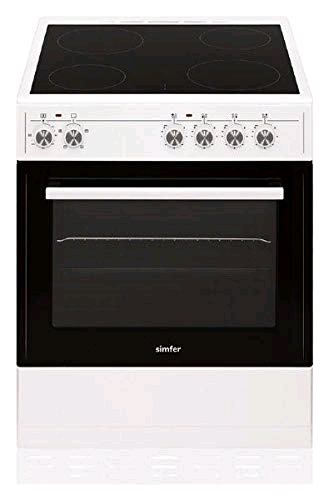 Smifer 60cm Single Cavity Electric Cooker Ceramic White c/w 2 Year P & L Warranty