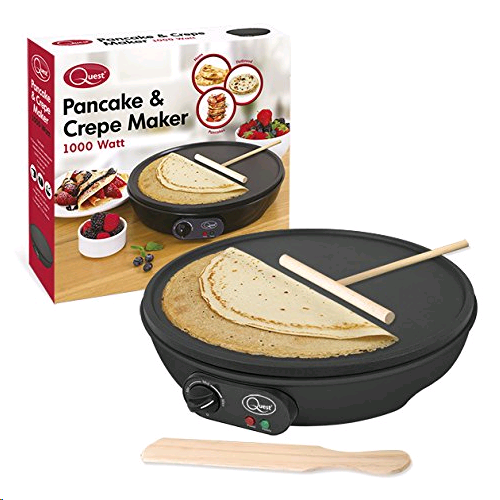 Quest 35540 Electric Pancake Crepe Maker with Spreader, 1000 W