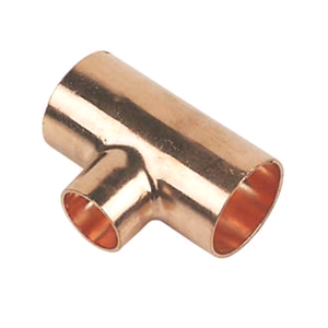 Copper Reducing Tee 22mm x 22mm x 15mm Endfeed