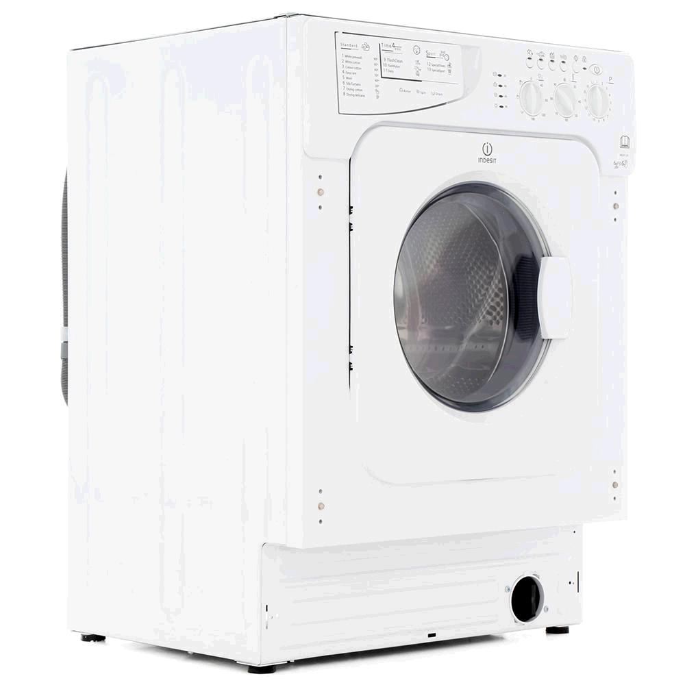 INDESIT IWDE126 Fully Integrated Washer Dryer 6KG 1200 Spin Washer 5KG Dryer