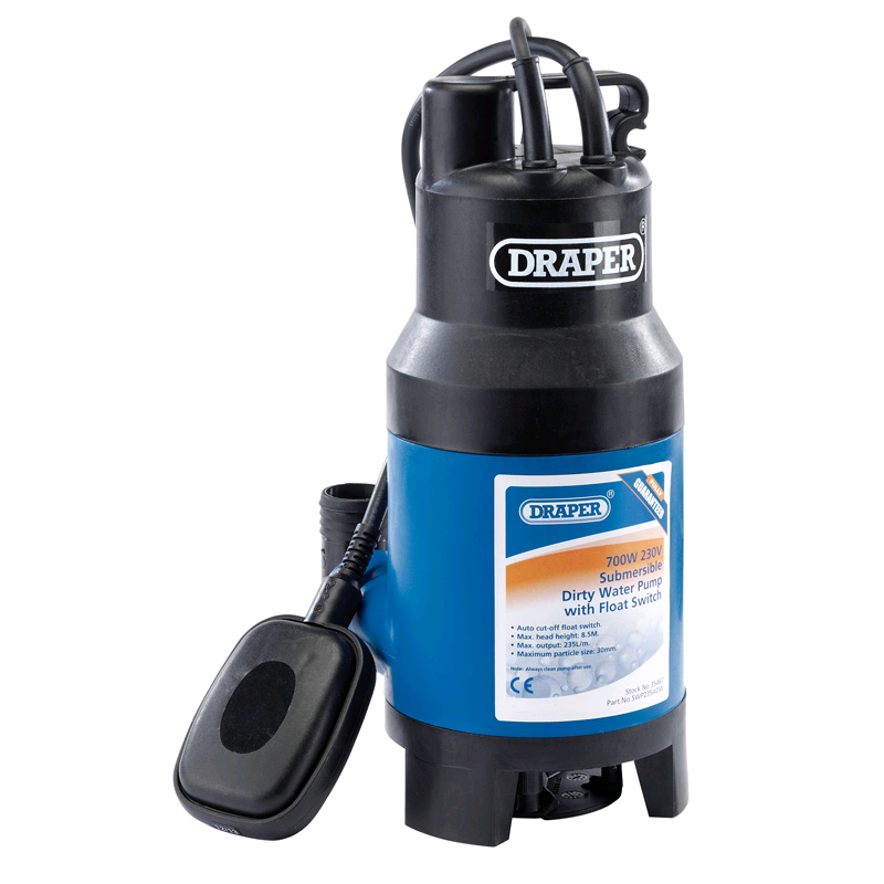 Draper Dirty Water Submersible Pump 8.5mtr