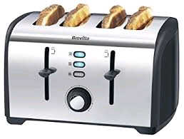 Breville 4 Slice Toaster Polished Stainless