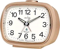 Acctim Camille Alarm Clock Rose Gold Bell