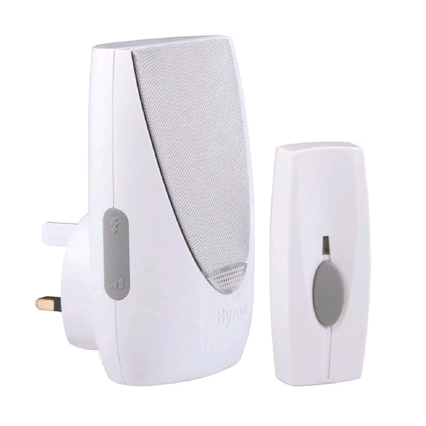 Byron Plug-In Door Bell c/w Volume Control & Light