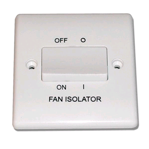 BG 3 Pole Fan Isolator 10 AX Switch