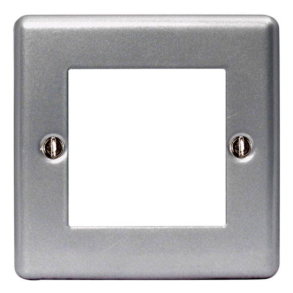 BG Euro Module 2 Gang Metal Clad Front Plate