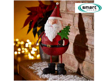 Smart Solar 6321236 Sparkly Santa Wobble 17 x 15 x 36cm 2530006