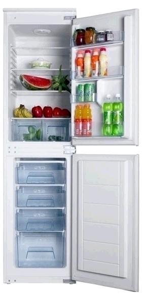 Iceking BI501 Built In Integrated Fridge Freezer 50/50 Manual Defrost A+ Sliding Hinge H 177cm