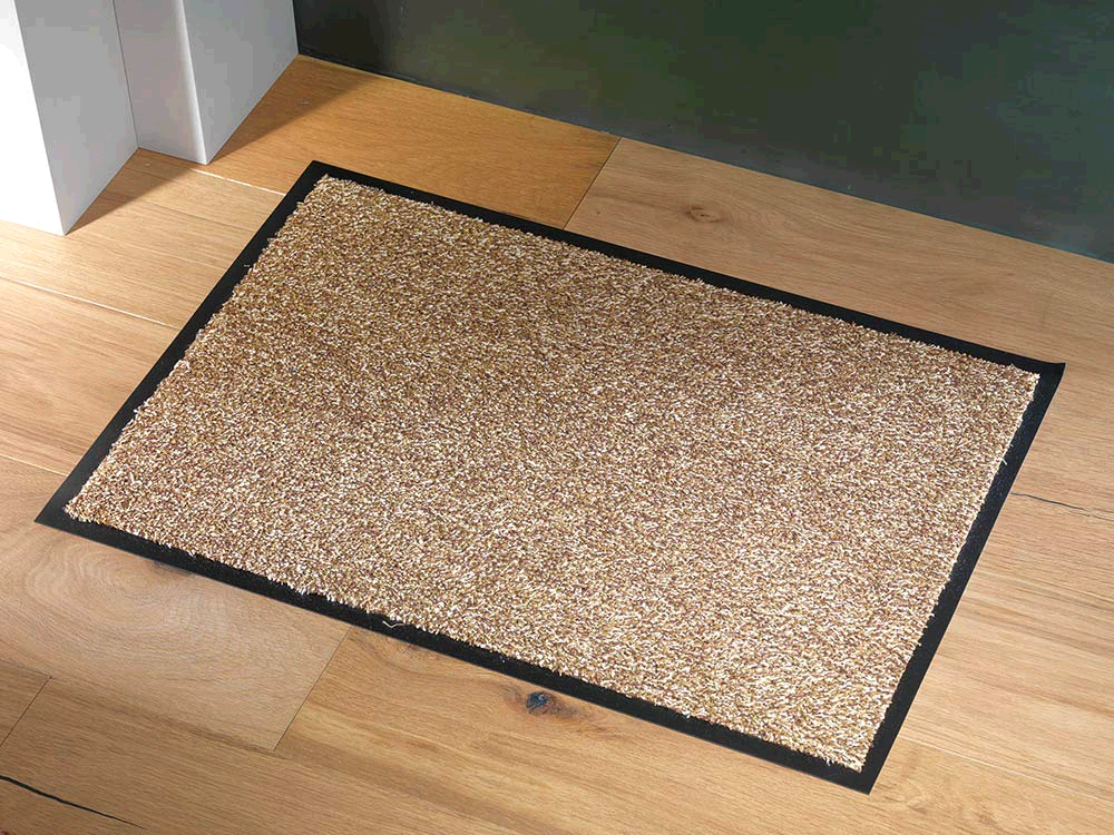 Dandy Washamat Doormat 80x50cm Beige William Armes Cotton with Vinyl/Rubber Backing