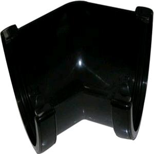 Floplast Hi-Cap 115mm 135deg Angle Guttering Black RAH2