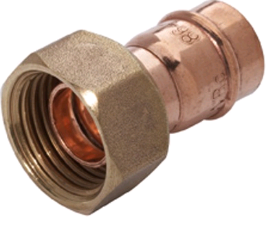 "Copper Straight Tap Connector 15mm x 3/4"" Solder Ring"