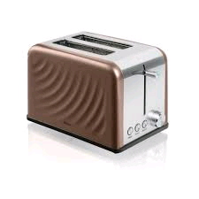 Swan 2 Slice Stainless Steel Twist Toaster in Copper