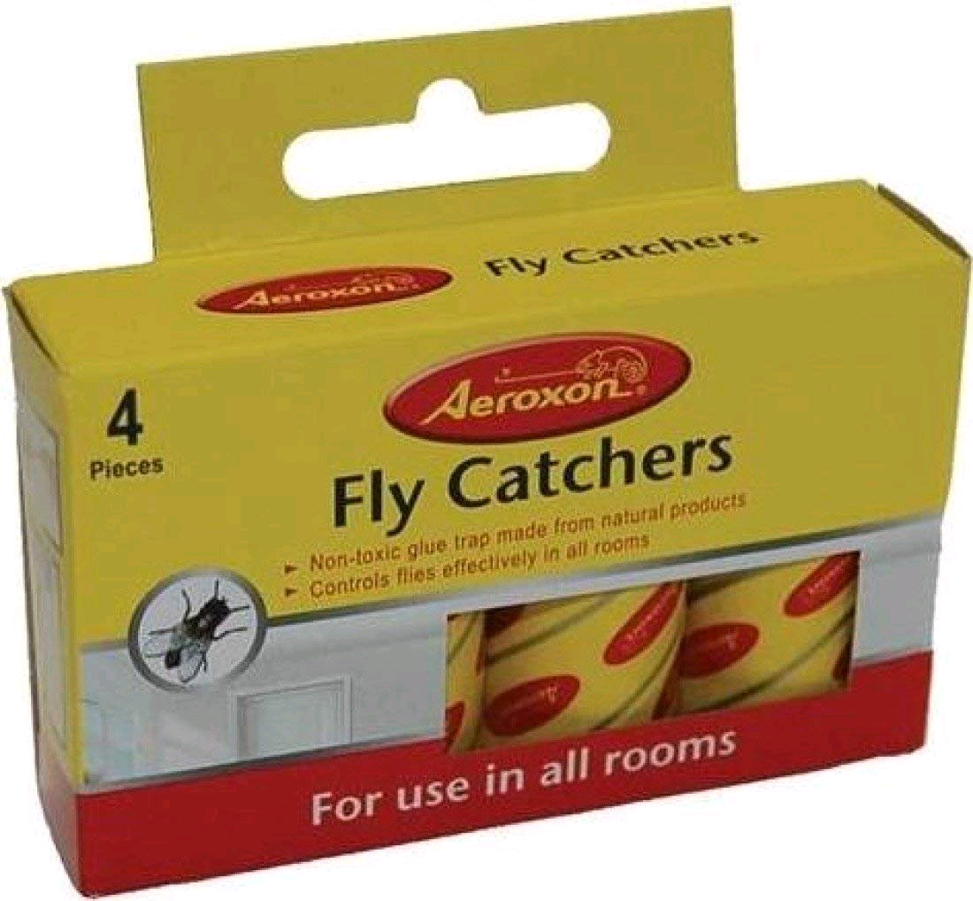 AEROXON 2860024 Sticky Fly Catchers Paper Pack of 4