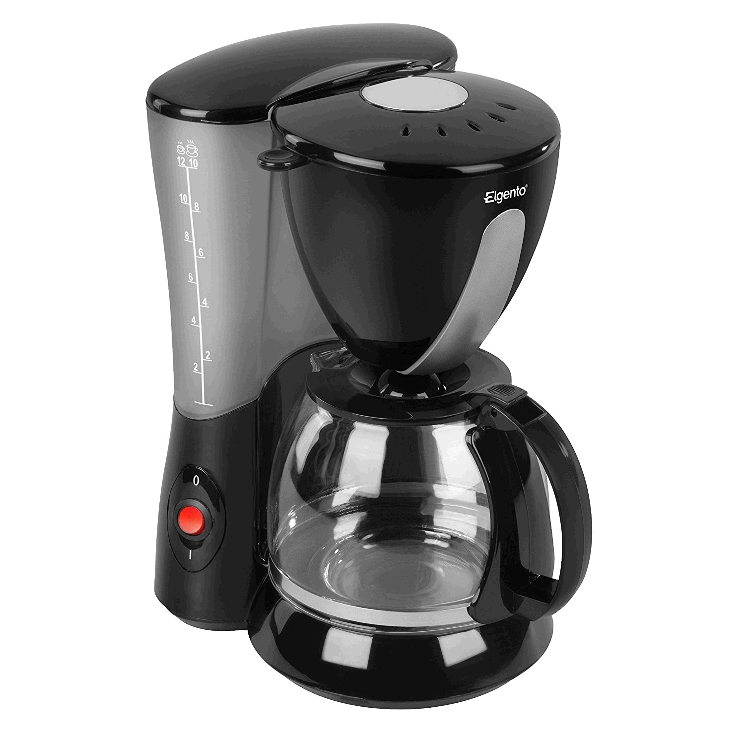 Elgento E13007 10 Cup Coffee Maker, Anti-Drip Feature, 750 W, Black