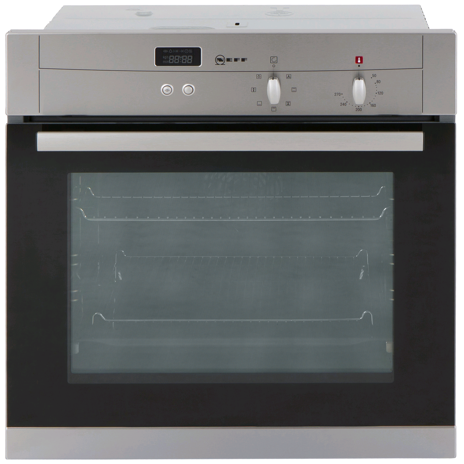 NEFF Built in Single Fanned Oven 67 litre with clock