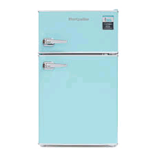 Montpellier Retro Under-Counter Fridge Freezer Pure Blue H835 x W486 x D530mm
