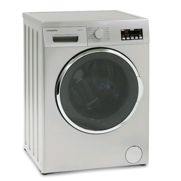 Montpellier Washer Dryer 7kg 1200 Spin Speed 5kg Load in Silver