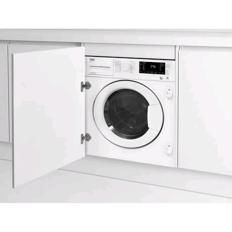 Beko WDIC752300F2 Fully Integrated Washer Dryer 7KG 1200 Spin Washer 5KG Dryer