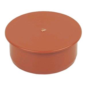 Floplast Underground Socket Plug 110mm D296 Terracotta SOIL