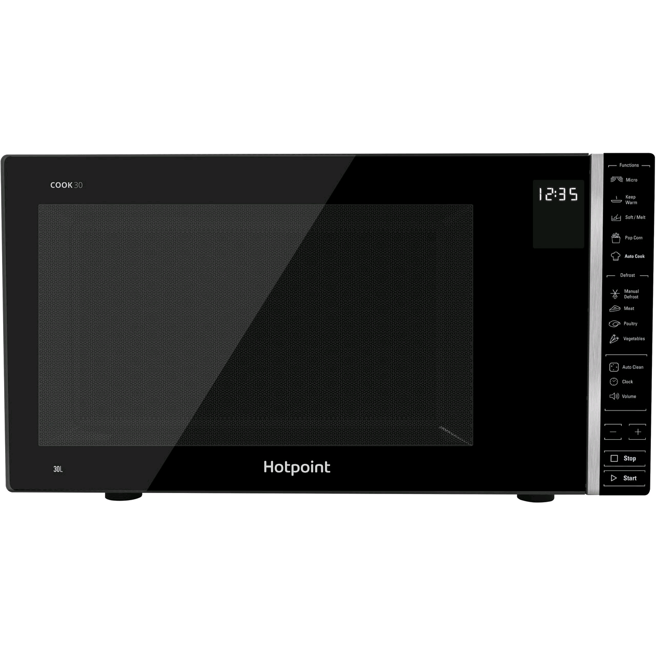 Hotpoint MWH301B Cook 30L Solo Microwave 900w Black