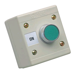 CED Green Push Button Station 240v ON IP65