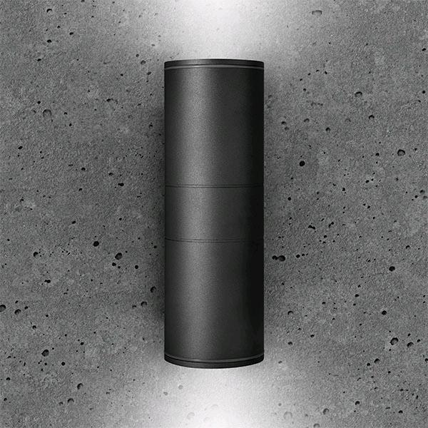 Bell Luna Grande Up/Down Wall Light Black IP65