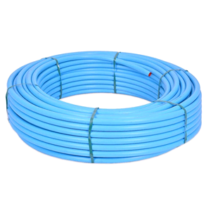 Polypipe 25mm x 50m Coil MDPE Water Service Pipe Blue