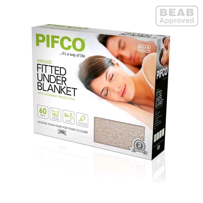 Pifco King Size Fitted Underblanket Dual Control Machine Washable