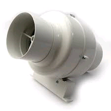 Manrose 4in/100mm Centrifugal Inline Fan With Bracket