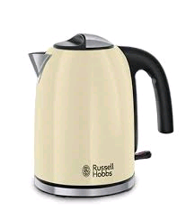 Russell Hobbs Colours Plus Kettle in Cream 3Kw 1.7Litre