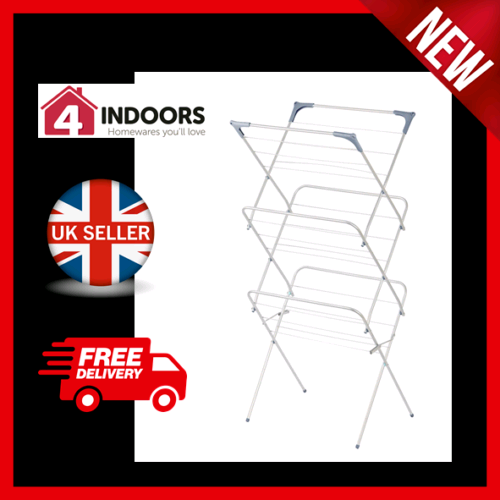 OurHouse SR20007 3 Tier Clothes Horse Airer Dryer Indoor Outdoor Use