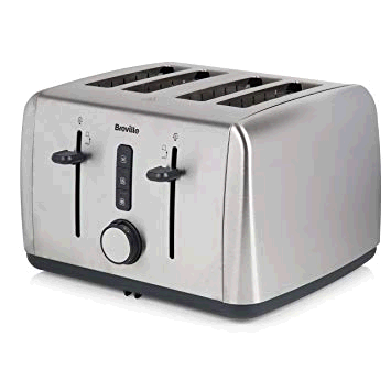 Breville Brushed Stainless Steel 4 Slice Toaster