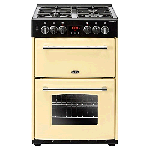 Belling Farmhouse 60cm Dual Fuel Cooker Mini Range - Cream