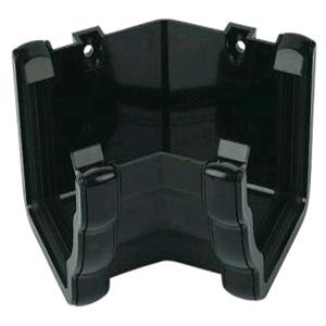 Floplast Niagara Square Gutter 135deg Internal Angle Black