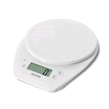 Salter Electronic Kitchen Scales - White - LCD Display