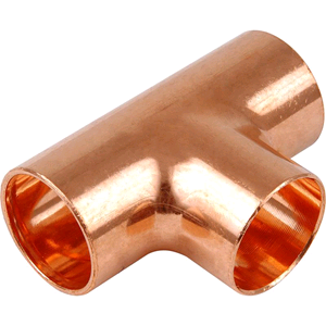 Copper Equal Tee 10mm Endfeed