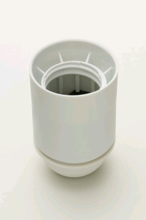 Jeani ES Plastic Lampholder 10mm Entry Plain Liner White