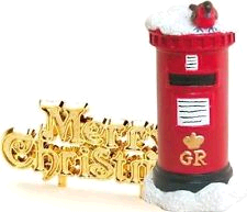 ANNIVERSARY HOUSE BX217 POST BOX TOPPER AND MOTTO