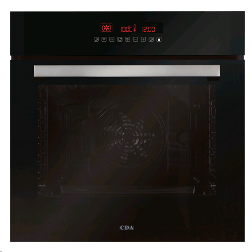 CDA Built in Single Oven Touch Control Pyrolytic