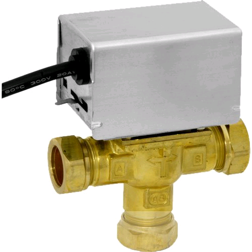 "Honeywell ¾"" Mid Position 3 Port Diverter Valve"