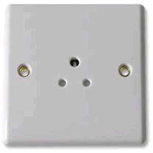 BG 1 Gang 5a Unswitched Socket Round Pin