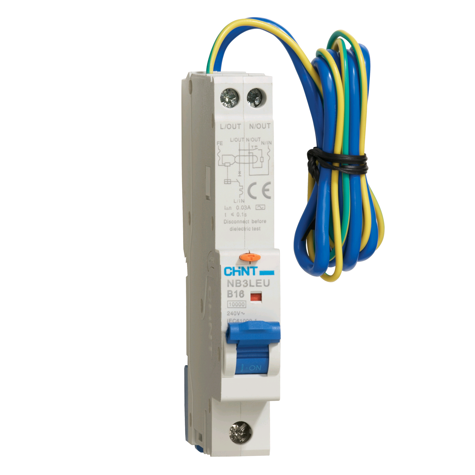 """Chint 16a 30mA RCBO """"B"""" Rated"""