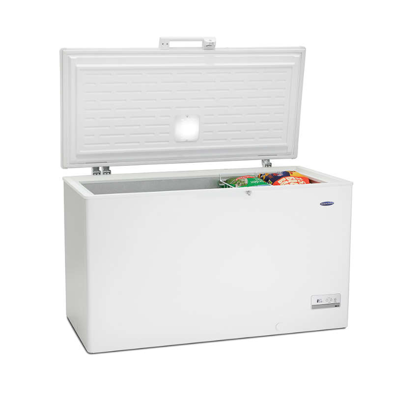"Iceking CFAP429W Chest Freezer 15 cu ft 429 ltr A+ Energy H845 W1410(55.5"" Wide) D745cm"