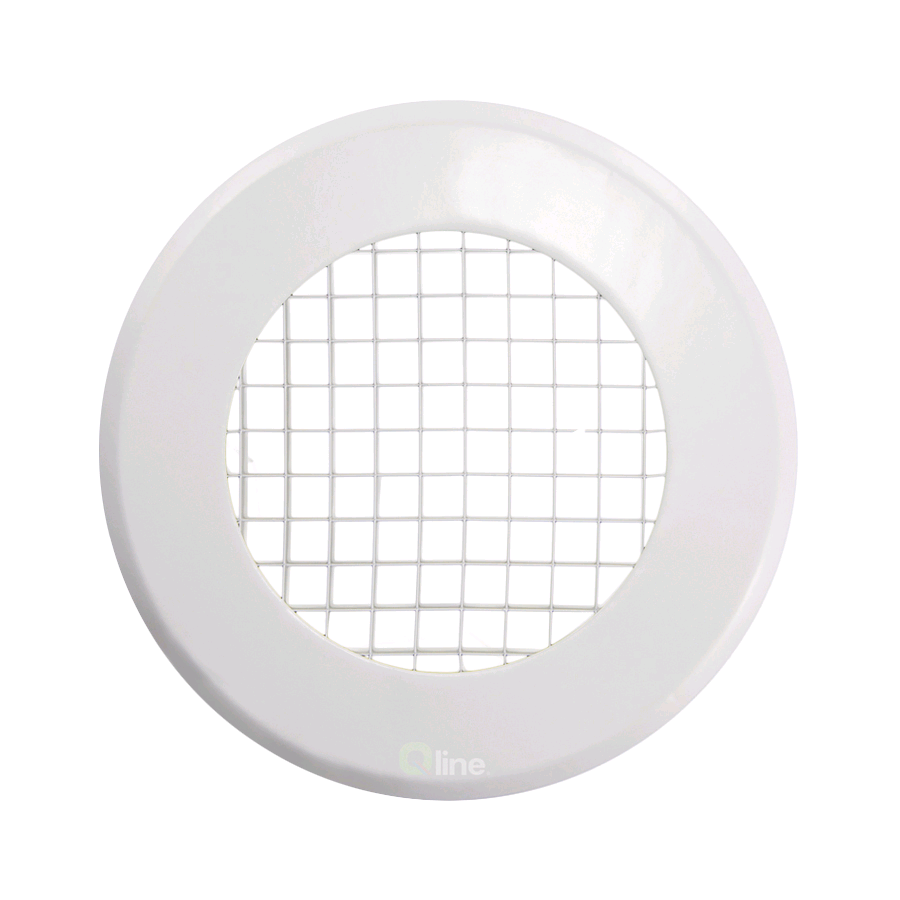 "Manrose 4"" 100mm Egg Crate Grill Round Top Internal"