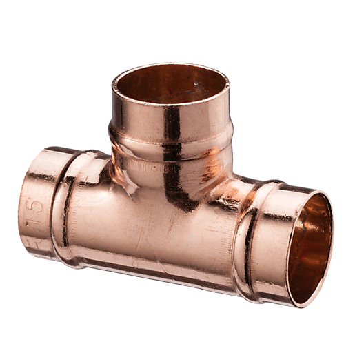 Copper Equal Tee 28mm Solder Ring