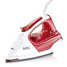 AEG 4 saftey Plus Red and White Steam Iron