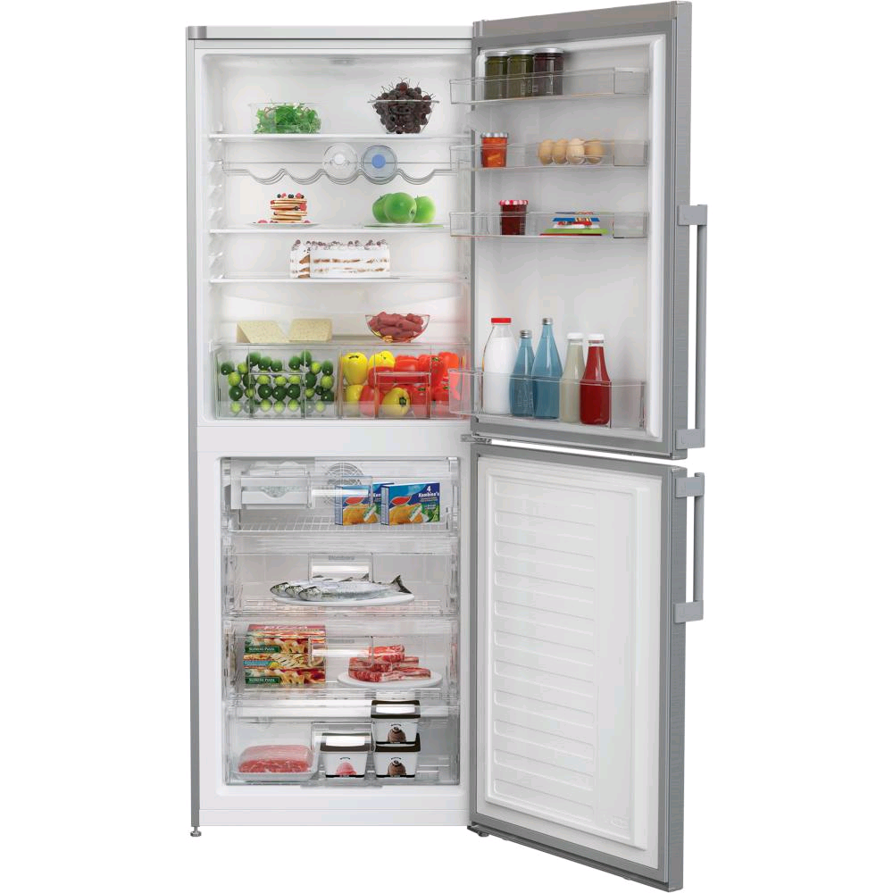 Blomberg Frost Free Fridge/Freezer 230/118ltr in Stainless Steel  H1900 W700