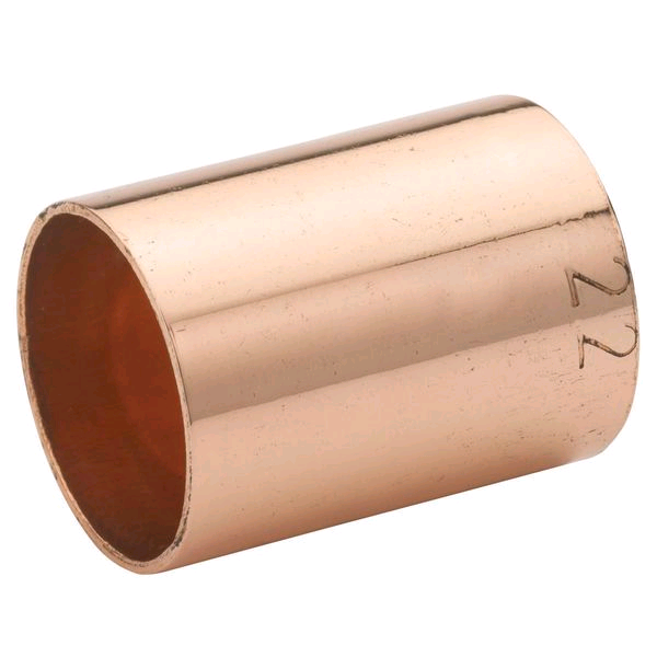 Copper Coupler 22mm Endfeed