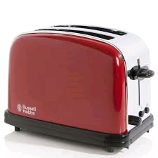 RUSSEL HOBBS 2 Slice Colour+ Toaster RED