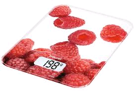 Beurer Digital Kitchen Scales 5Kg MAX - Red Berry